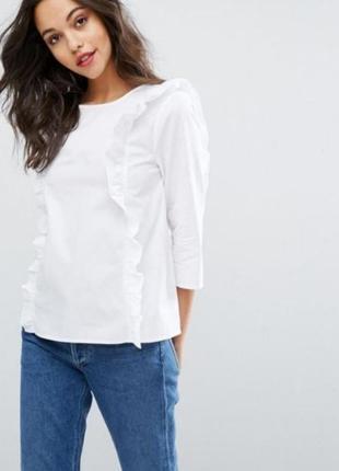 🎁1+1=3 фирменная оригинальная новая белая блуза vero moda, раз...