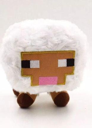 Игрушка мягкая Овца/Овечка из Майнкрафт 16см/ Minecraft/White ...