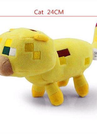 Игрушка MineCraft майнкрафт оцелот ozelot 16 -32 см. желтый кот
