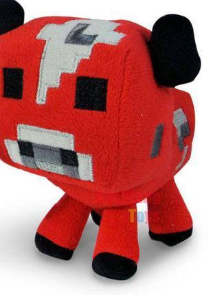 """Мягкая игрушка """"Красная корова"""" 14см. из игры Майнкрафт Minecraft"""