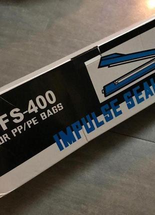 Запайщик, свариватель пакетов и пленок РУЧНОЙ PFS-400 пластиковый