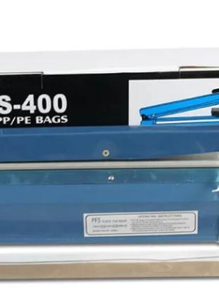 Запайщик свариватель пакетов и пленок РУЧНОЙ PFS-400 пластиковый