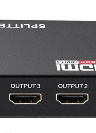 HDMI сплиттер активный 1080 2K 3D 4 порта 1 вход->на 4 экрана ...