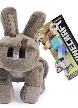 Игрушка MineCraft кролик серый 17 см. майнкрафт плюшевый RABBI...