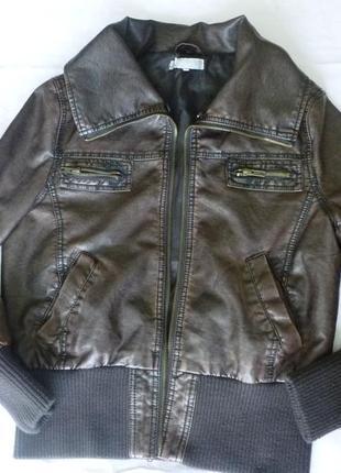 Стильная практичная куртка пилот экокожа miso