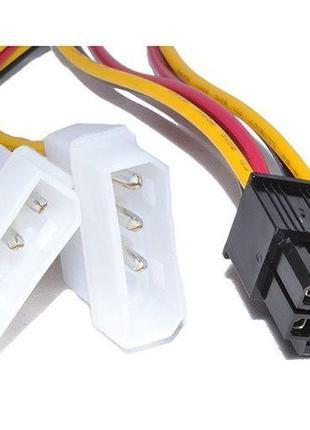 Переходник для видеокарты 2 по 4 pin MOLEX -> 6pin для PCI-E к...