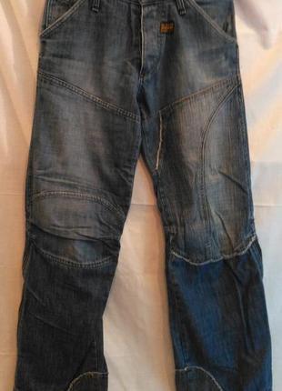 Отличные мужские джинсы g-star с боков расстегиваются молнии о...