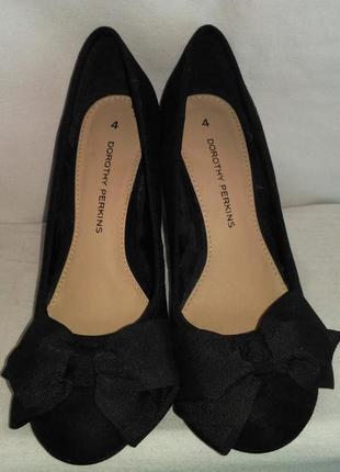 Очень стильные туфли с бантиком