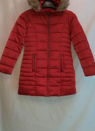 Очень теплая на синтипоне и иск.меху куртка для девочки