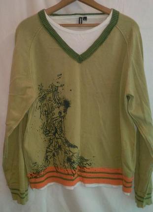 Очень нарядный клубный свитер-свитшот