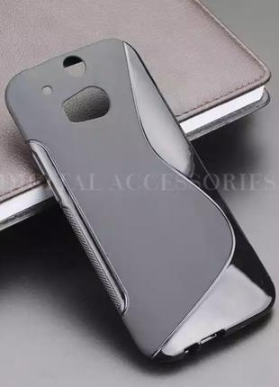 Чехол S-line TPU для HTC One M8 силикон на телефоны НТС М8 сил...