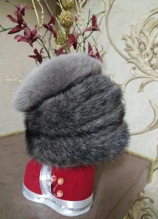 Новая Норковая шапка Натуральный Мех Норка