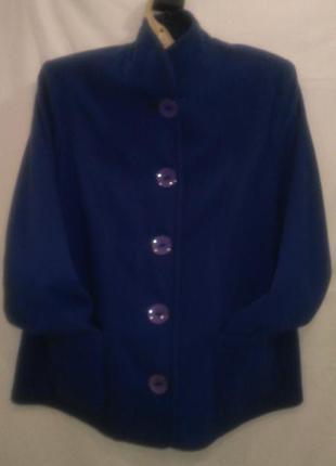 Пиджак ручной  работы  красивого ярко  синего  цвета