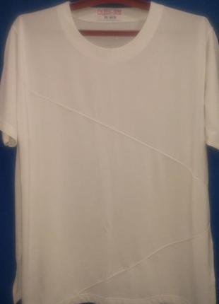 Белая  нарядная  футболка  для  хорошей  женщины