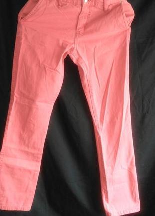 Классные джинсы кораллового цвета