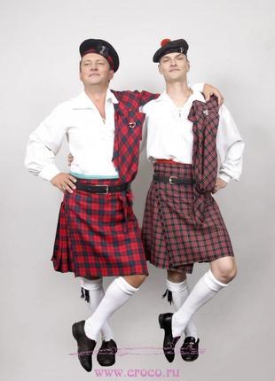 Шотландский национальный мужской костюм. Килт. Берет. Прокат /...