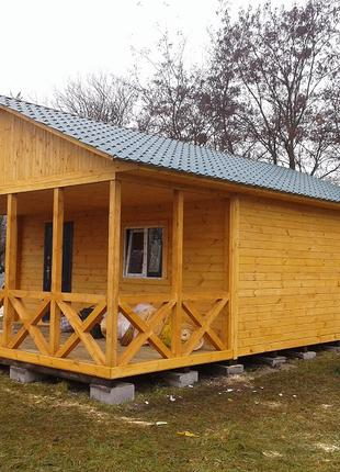Дом дачный 6м х 6м из фальшбруса