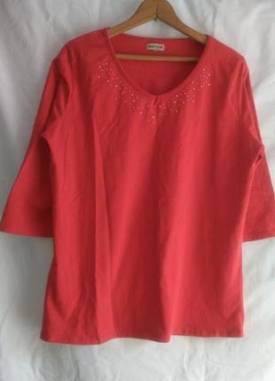 Классная  женская  футболка со стразиками