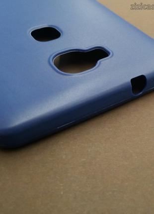 Силиконовый матовый чехол для Huawei Honor 5X (синий)