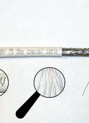 Телевизионный F690 (Антенный) кабель RG для спутника и кабельн...