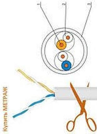 Витая пара кабель Ok-Net КПВ-ВП 2x2x0,5 МЕДЬ.___________НА МЕТРАЖ