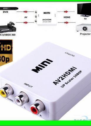 Преобразователь AV (тюльпаны rca) на HDMI 1080P (и кабель usb)...