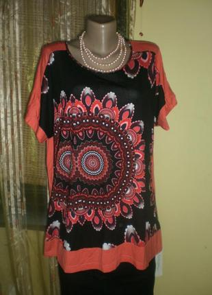 Шикарнейша красивенна блузочка-футболочка цікавий індійський у...