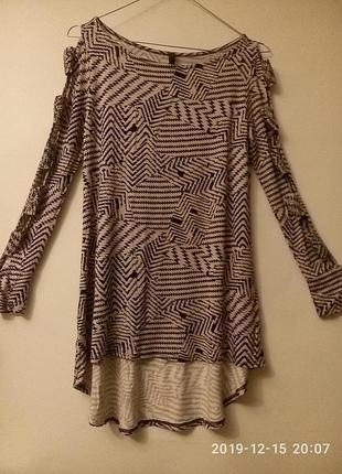 Трикотажная блузка с прорезями на рукавах сша