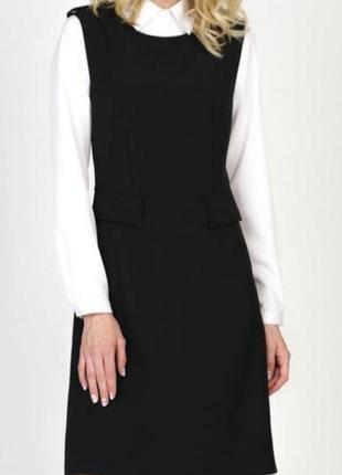 Чёрный сарафан платье свободного фасона h&m
