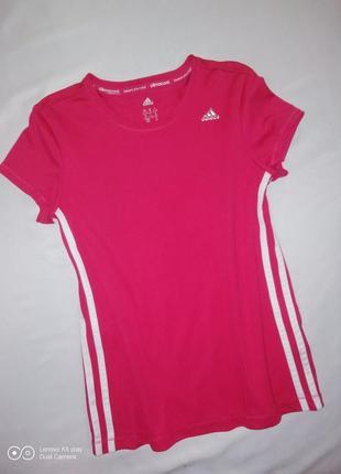 Спорт- брендовая футболка девочке-11-12 лет-148-152-adidas-