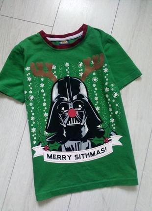 Отличная футболка новогодняя star wars