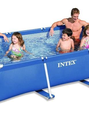Прямоугольный сборный каркасный бассейн Small Frame Intex 2827...