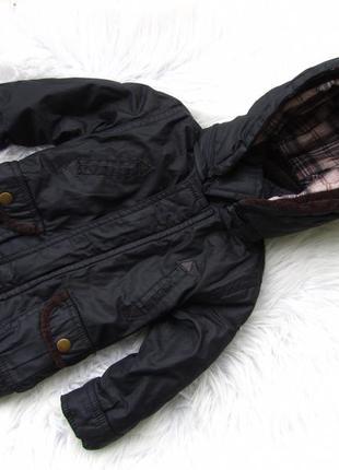 Стильная теплая куртка парка с капюшоном matalan