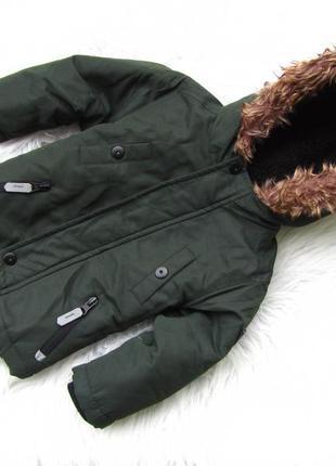 Стильная теплая куртка парка с капюшоном rebel