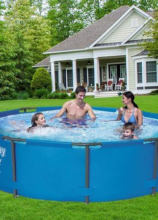 Каркасный бассейн Bestway 56408, 305 х 76 см (1 250 л/ч, подст...