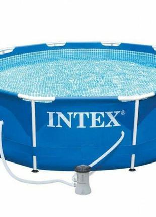 Каркасный бассейн сборный Intex 28202 (305*76 см) + картриджны...