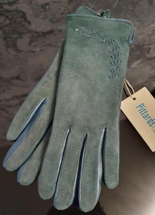 Стильные женские перчатки из натурального замша и натуральной ...
