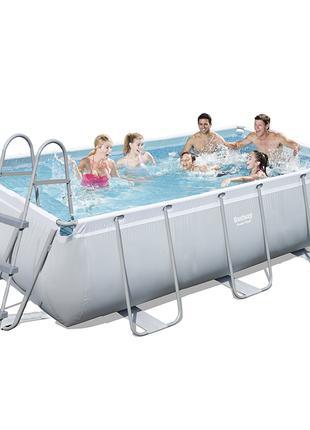 Каркасный бассейн Bestway 56442 - 1, 404 х 201 х 100 см (лестн...