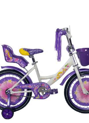 """Детский велосипед Azimut Girls 18"""" с корзинкой"""