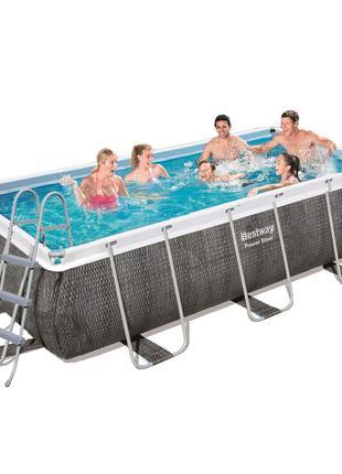 Каркасный бассейн Bestway 56721 - 1, 404 х 201 х 100 см (лестн...