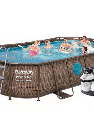 Каркасный бассейн Bestway 56714-6, 427 х 250 х 100 см (4 500 л...