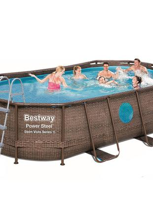 Каркасный бассейн Bestway 56714 - 1, 427 х 250 х 100 см (лестн...
