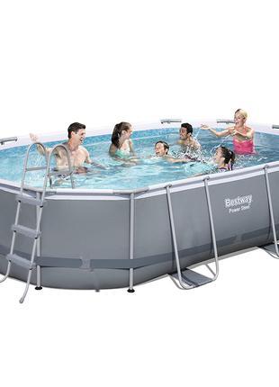 Каркасный бассейн Bestway 56448 - 1, 488 х 305 х 107 см (лестн...