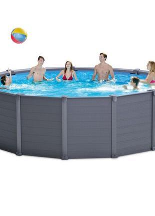 Каркасный бассейн Intex 26384 - 0 (чаша, каркас), 478 х 124 см