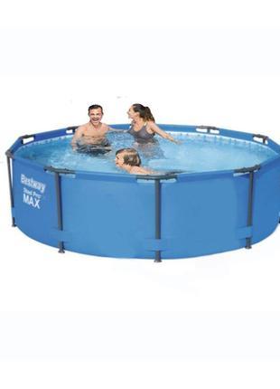 Каркасний басейн Bestway 305 х 100 см Картриджный фильтр насос...
