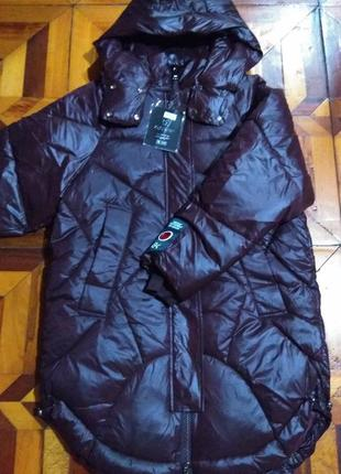 Пуховик оверсайз. зимняя зима))). куртка бойфренд, куртка зефи...