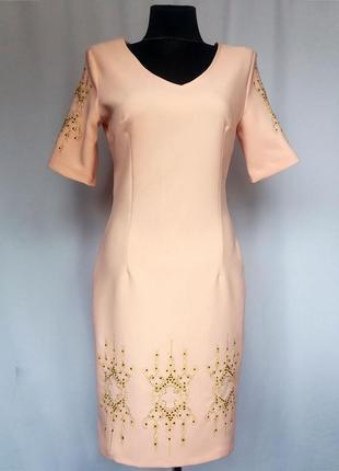 Суперцена. красивое платье, золотистая вышивка. турция. новое,...