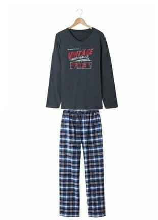 Теплая мужская пижама домашний костюм livergy германия, реглан...
