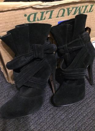 River island замшевые ботильоны ботинки