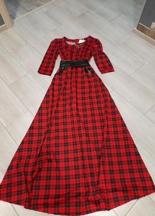 Теплое платье  в пол, размер  с- м
